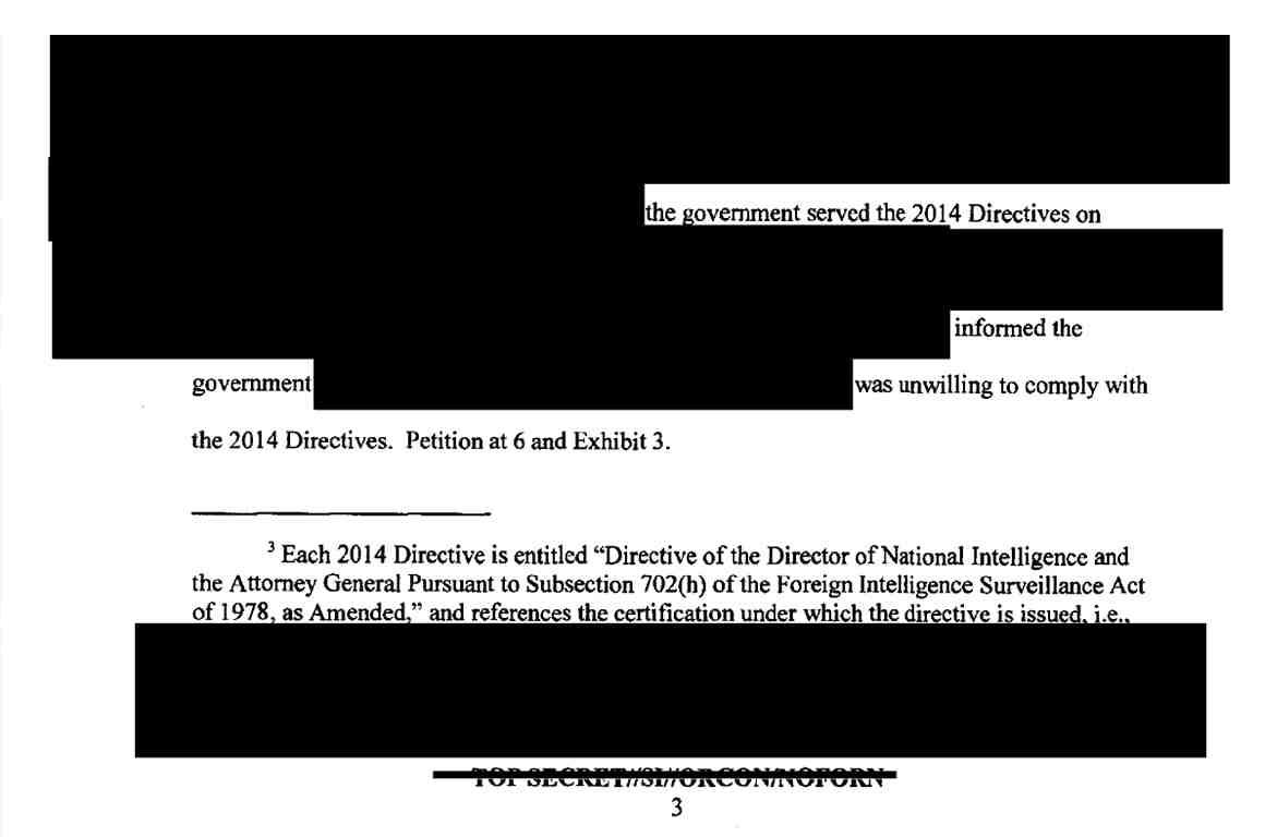 FISA FOIA Screenshot