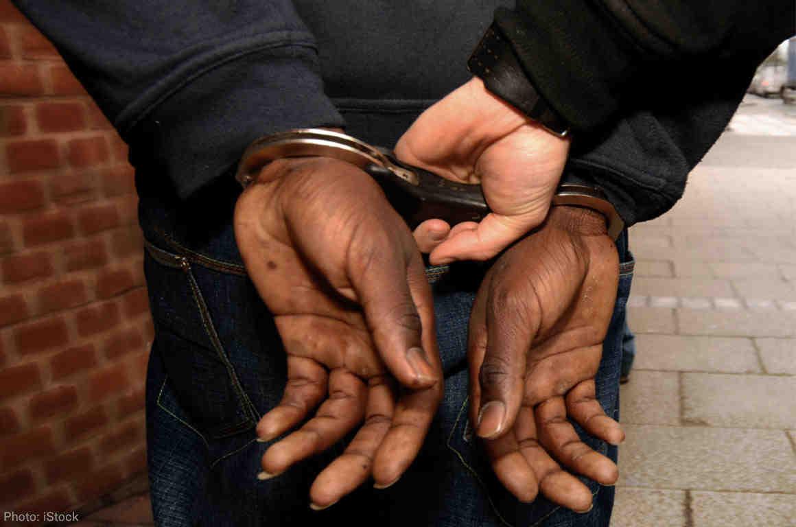 Man Getting Handcuffed