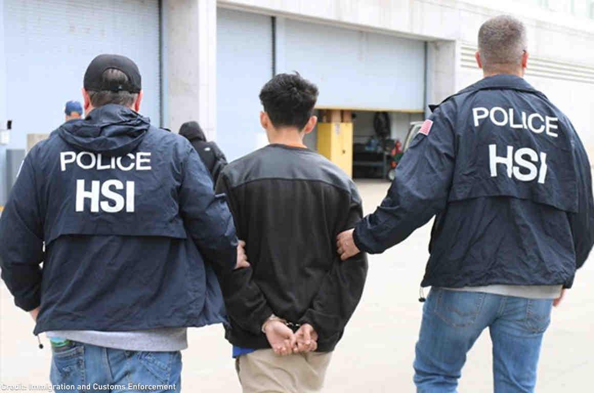 HSI Police Arresting Suspect