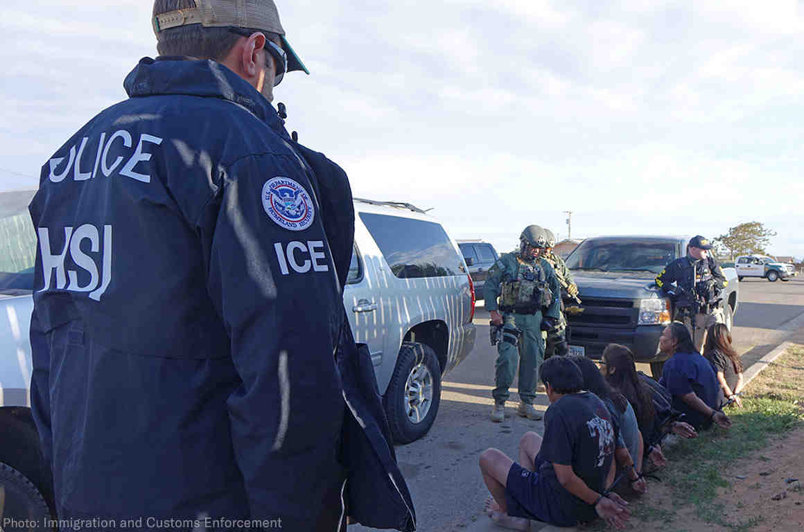 ICE Road Side Arrest