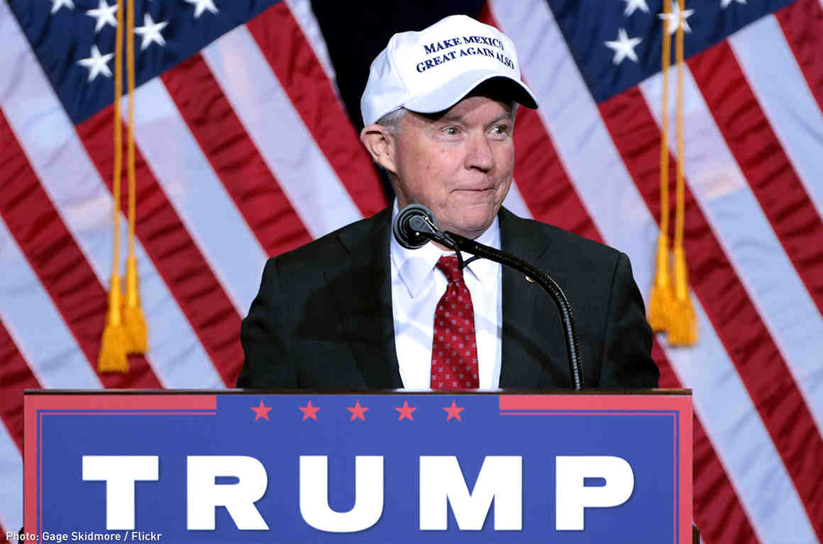 Jeff Sessions in Hat