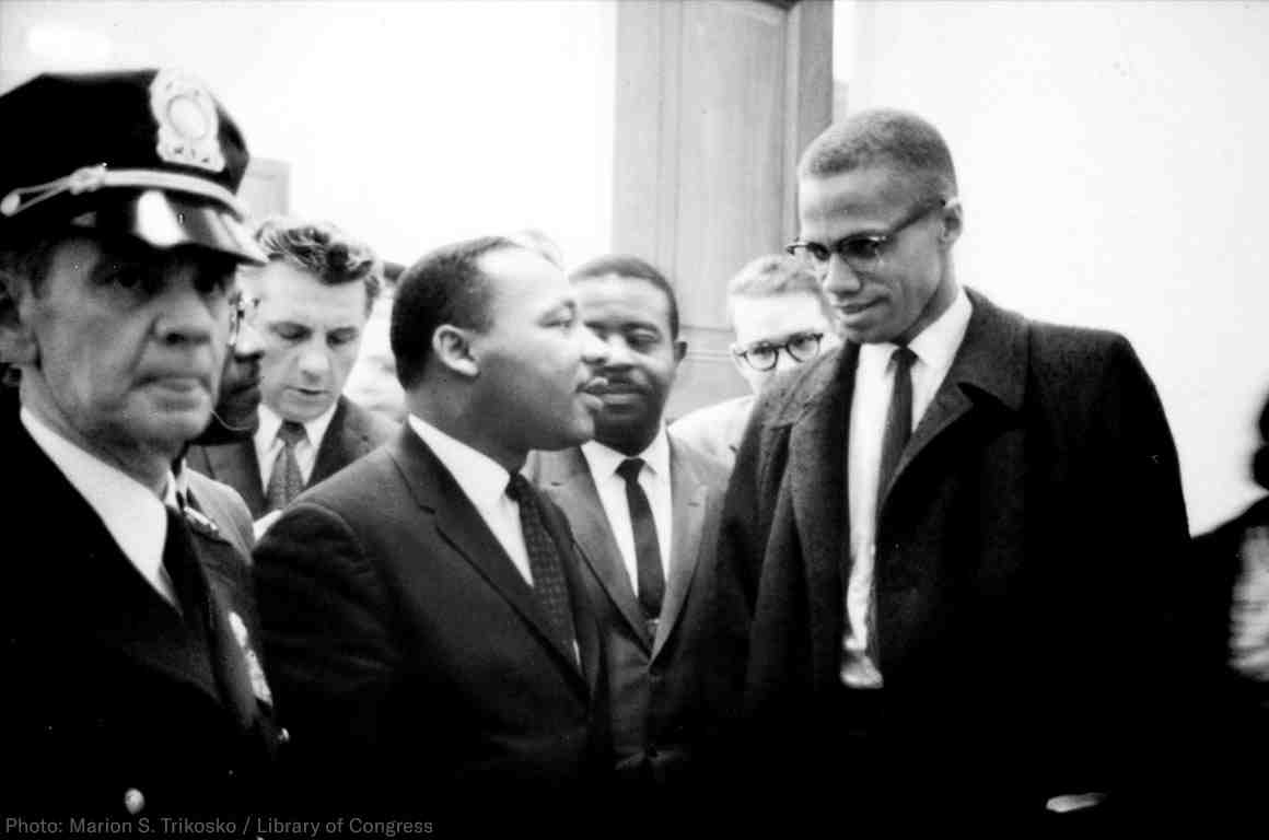 Martin Luther King + Malcolm X