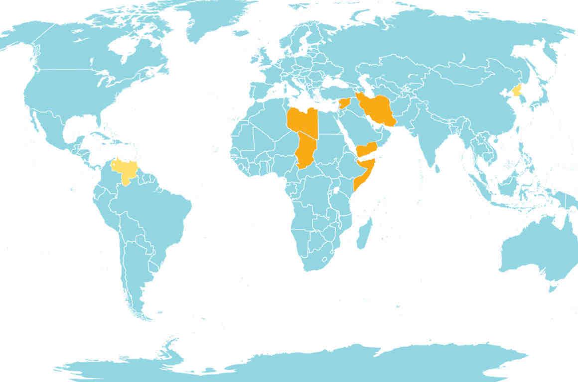 Muslim Ban 3.0 Map
