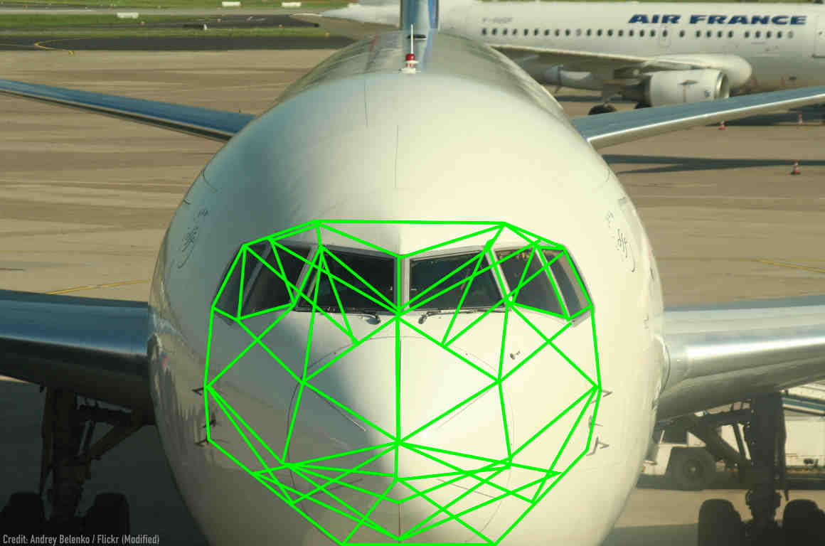 Plane with Face Recognition Graphic