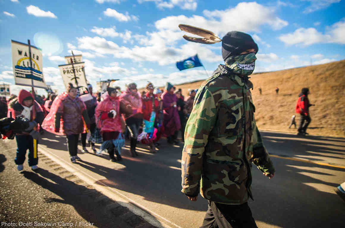 Water Protectors at Standing Rock