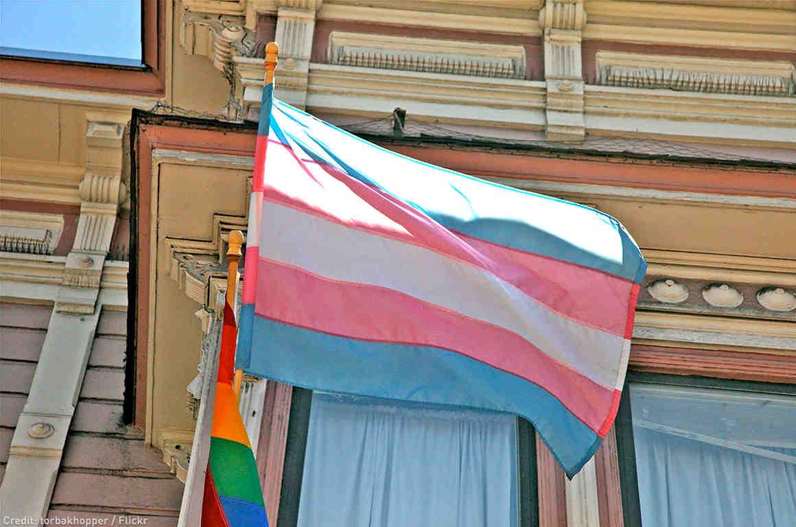 Trans Flag Building