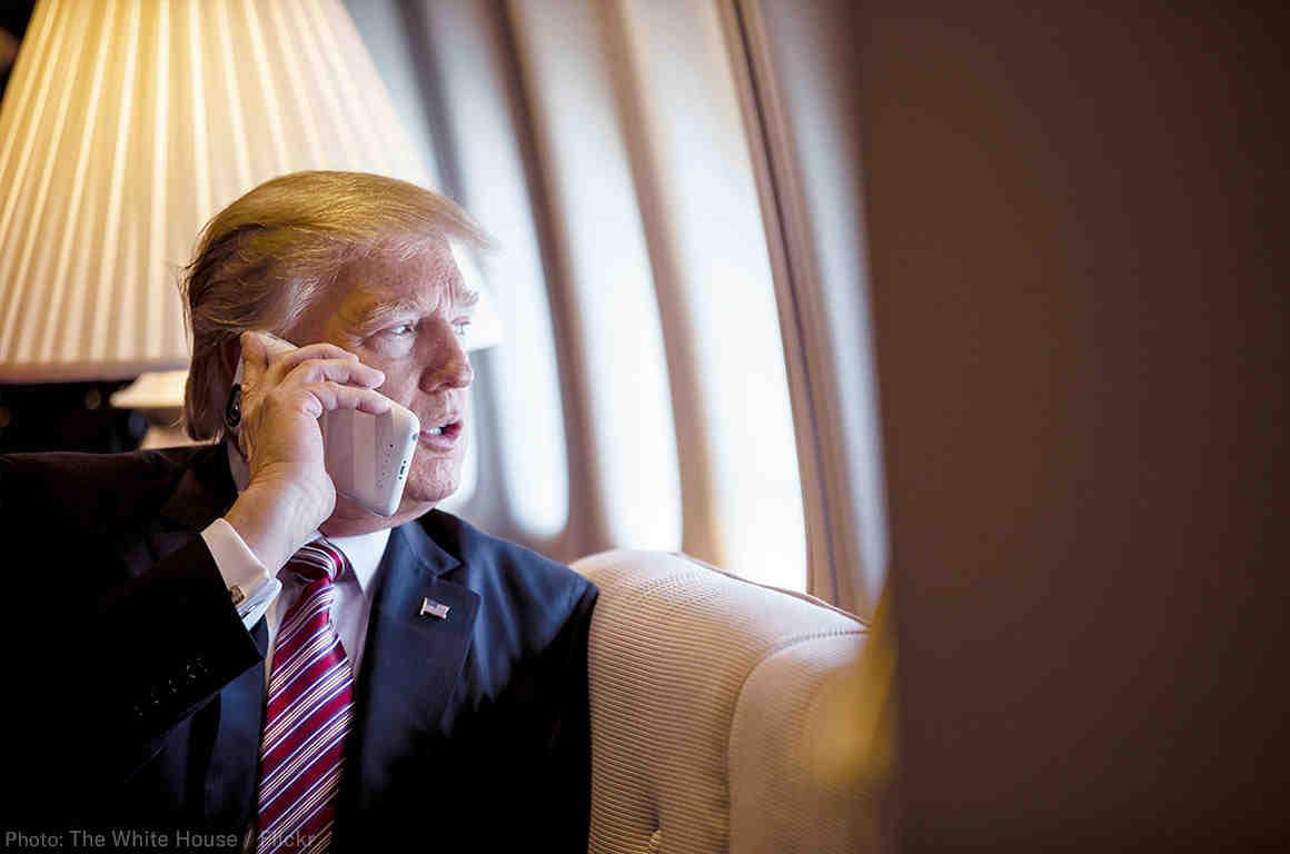 Trump on Phone