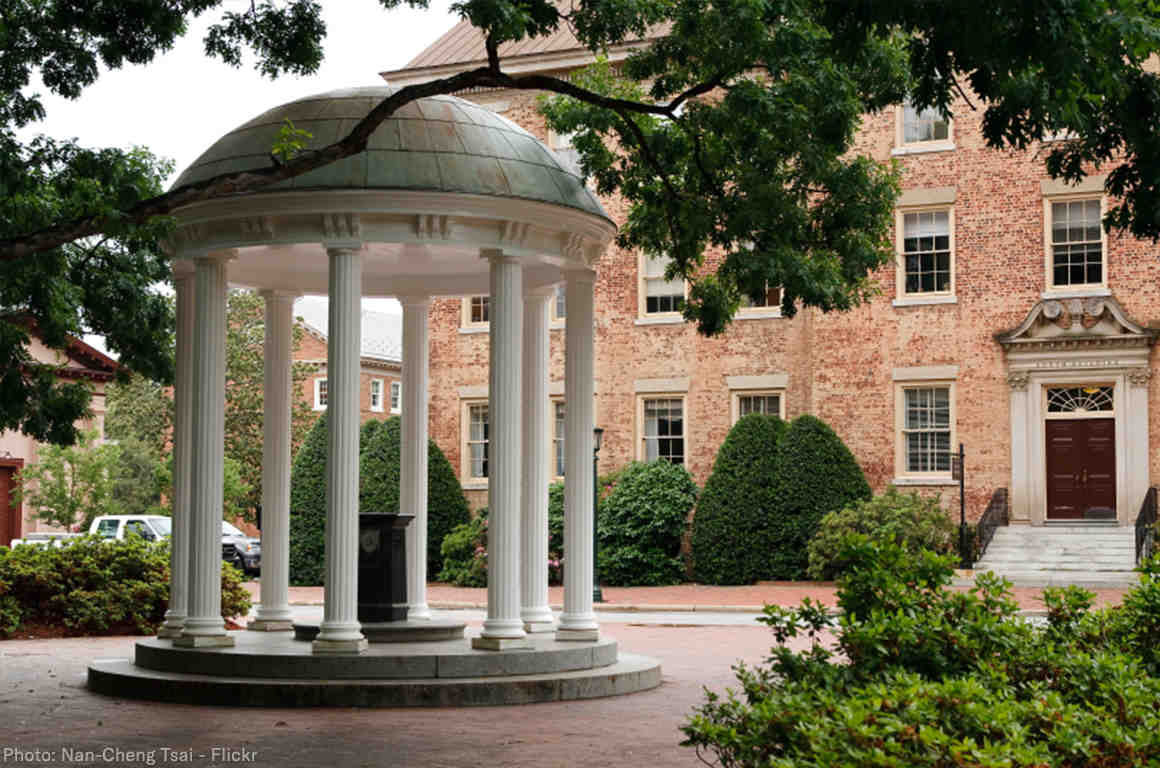UNC Old Well on campus