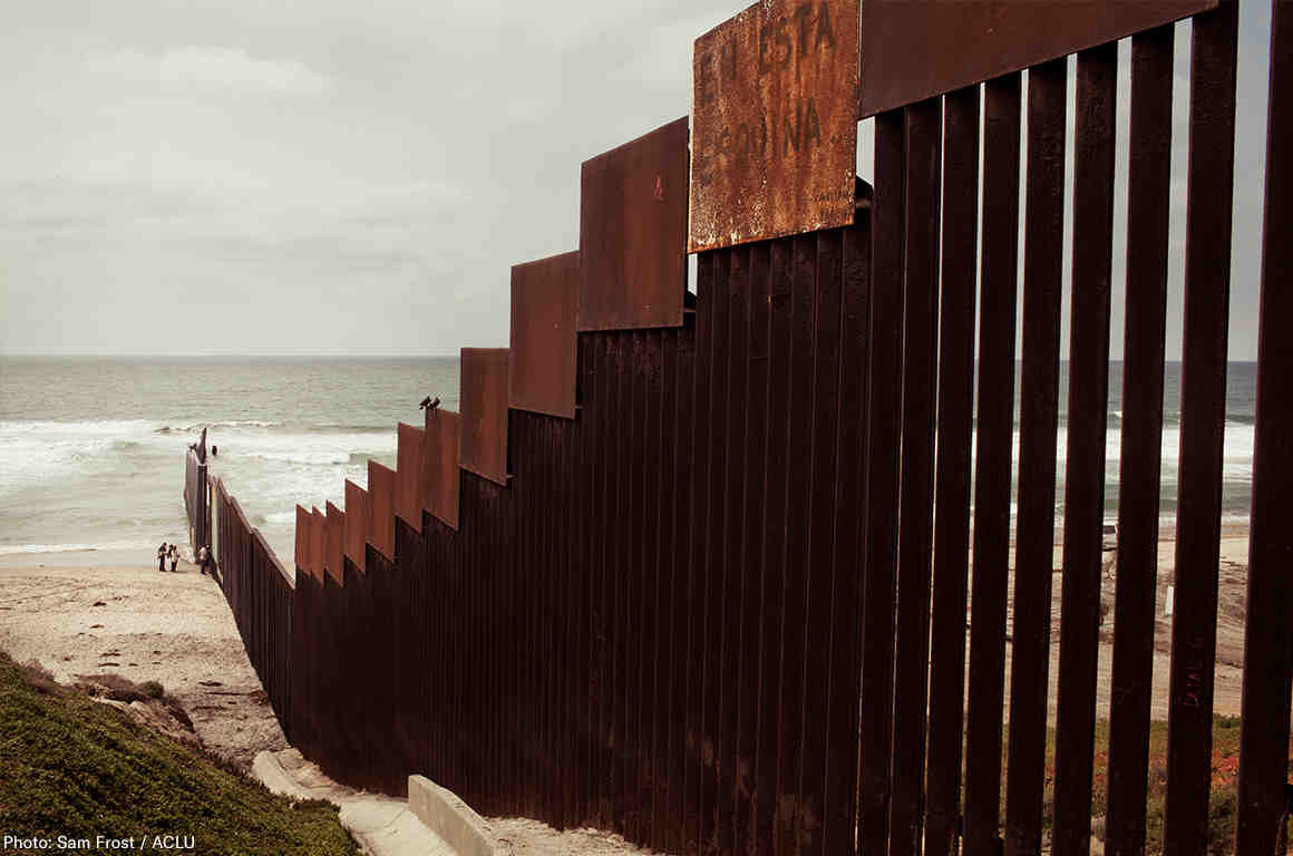 Border Wall Beach