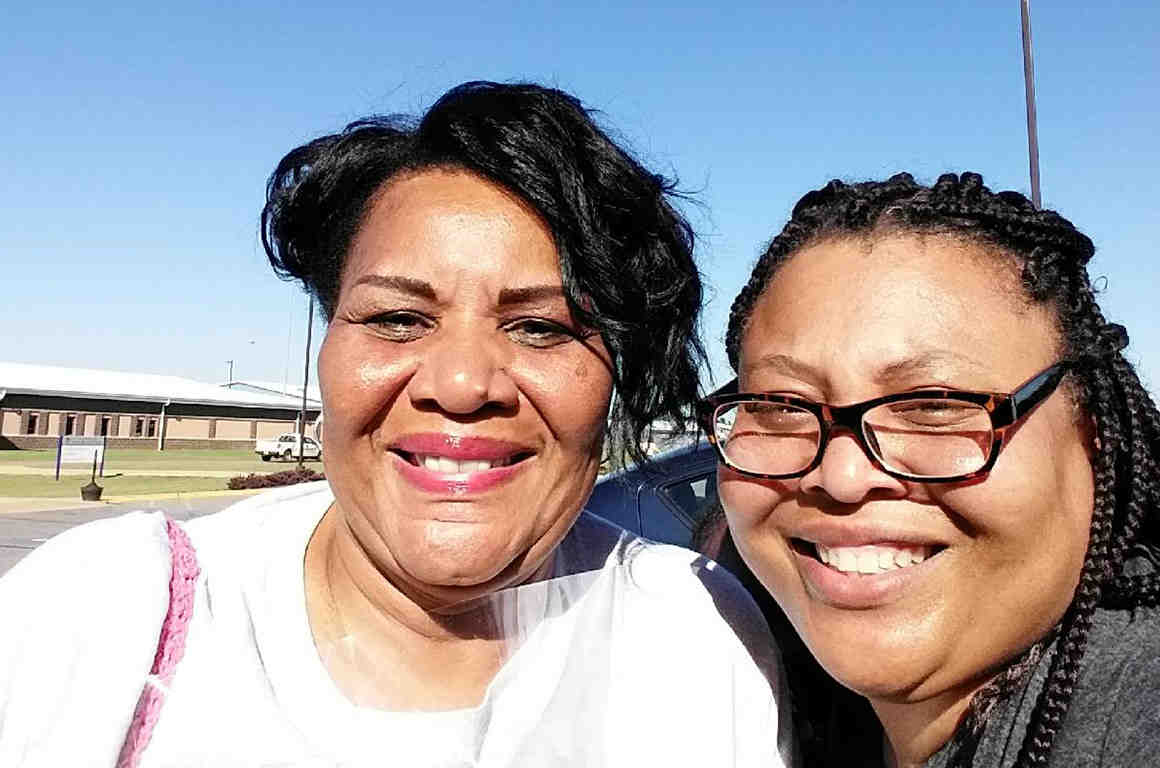 Alice Marie Johnson and her daughter