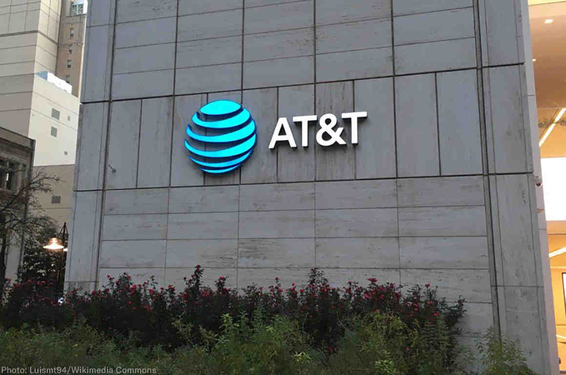 Front of an AT&T store