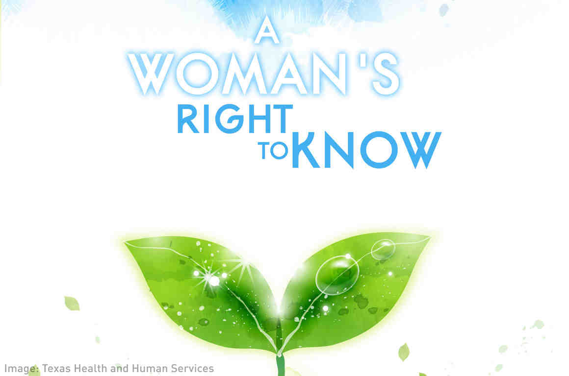 A Woman's Right to Know Brochure Cover