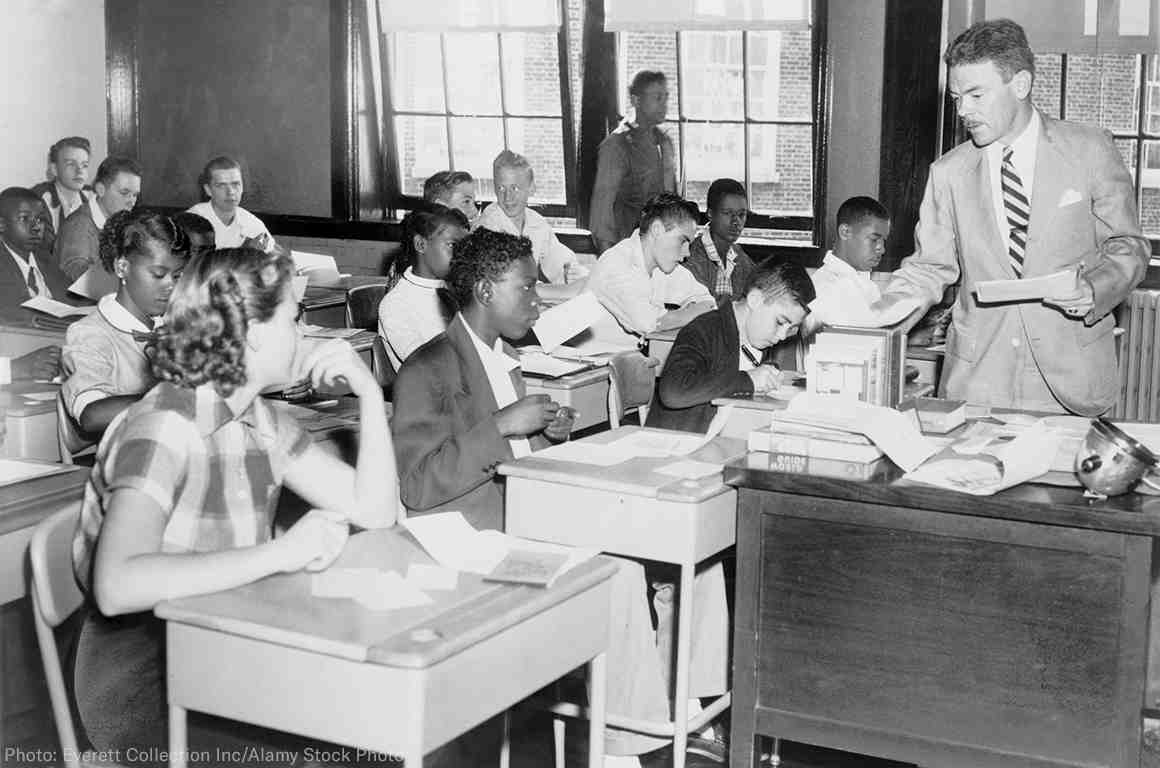 A classroom in the 1950s