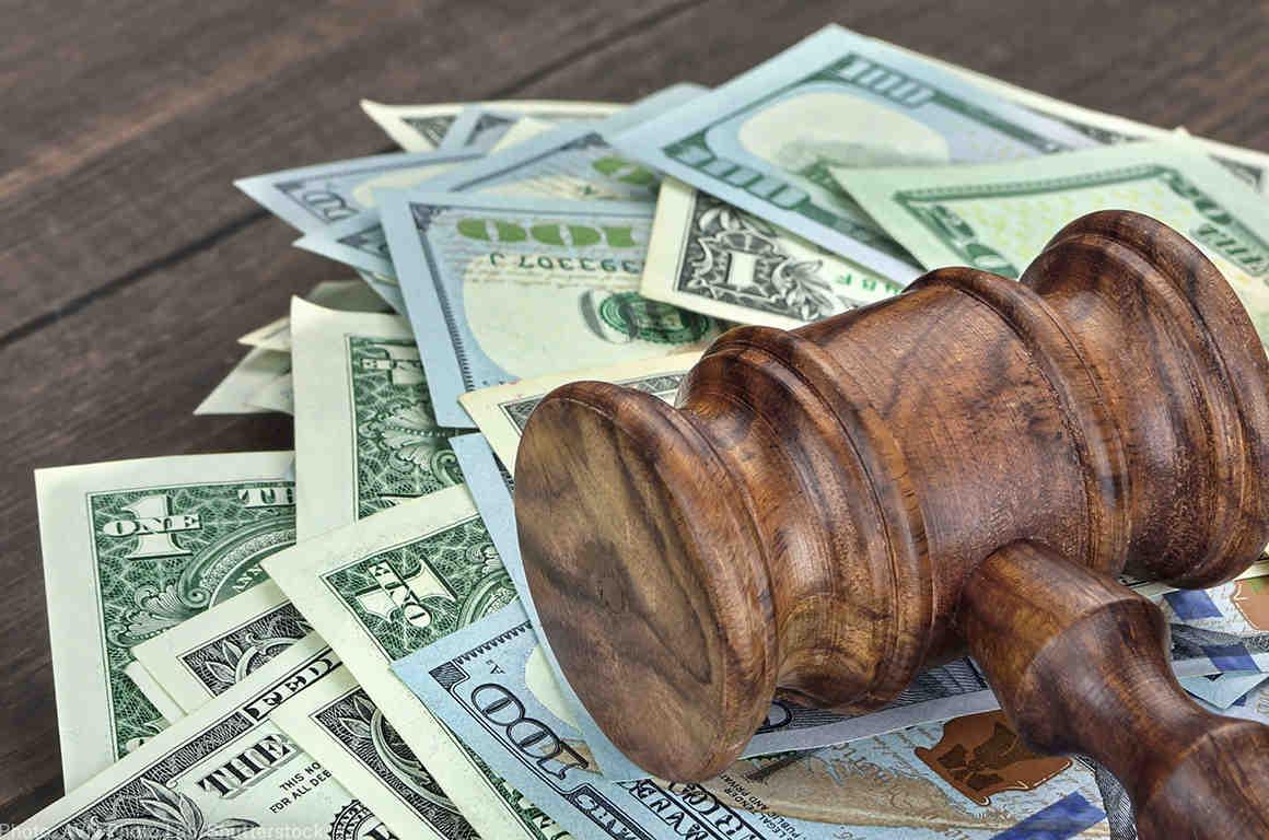 Cash under a gavel