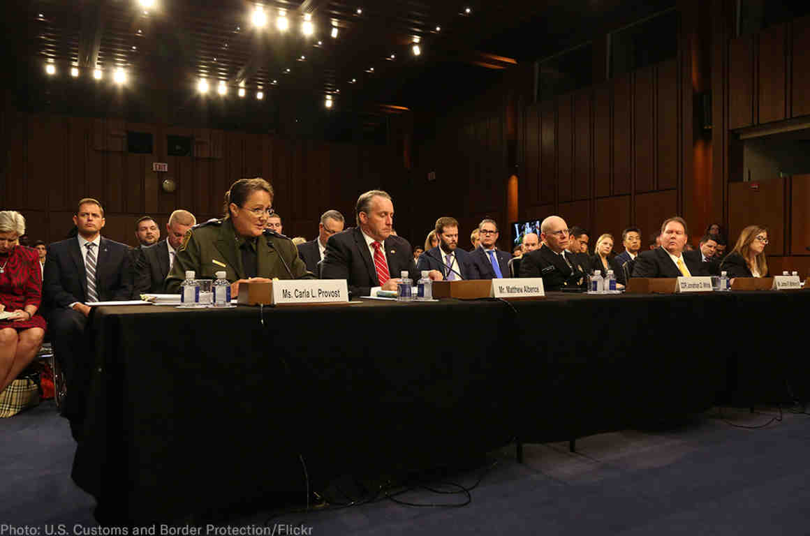 CBP officials testifying in Congress