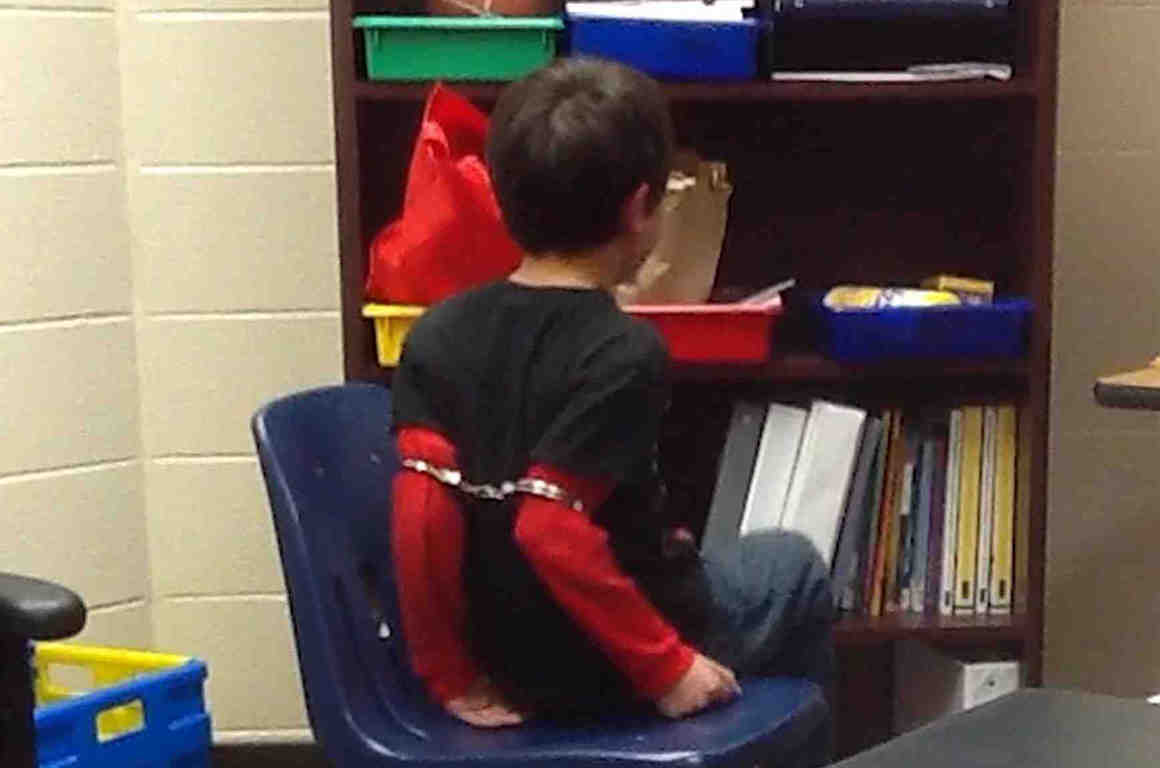 Child Handcuffed