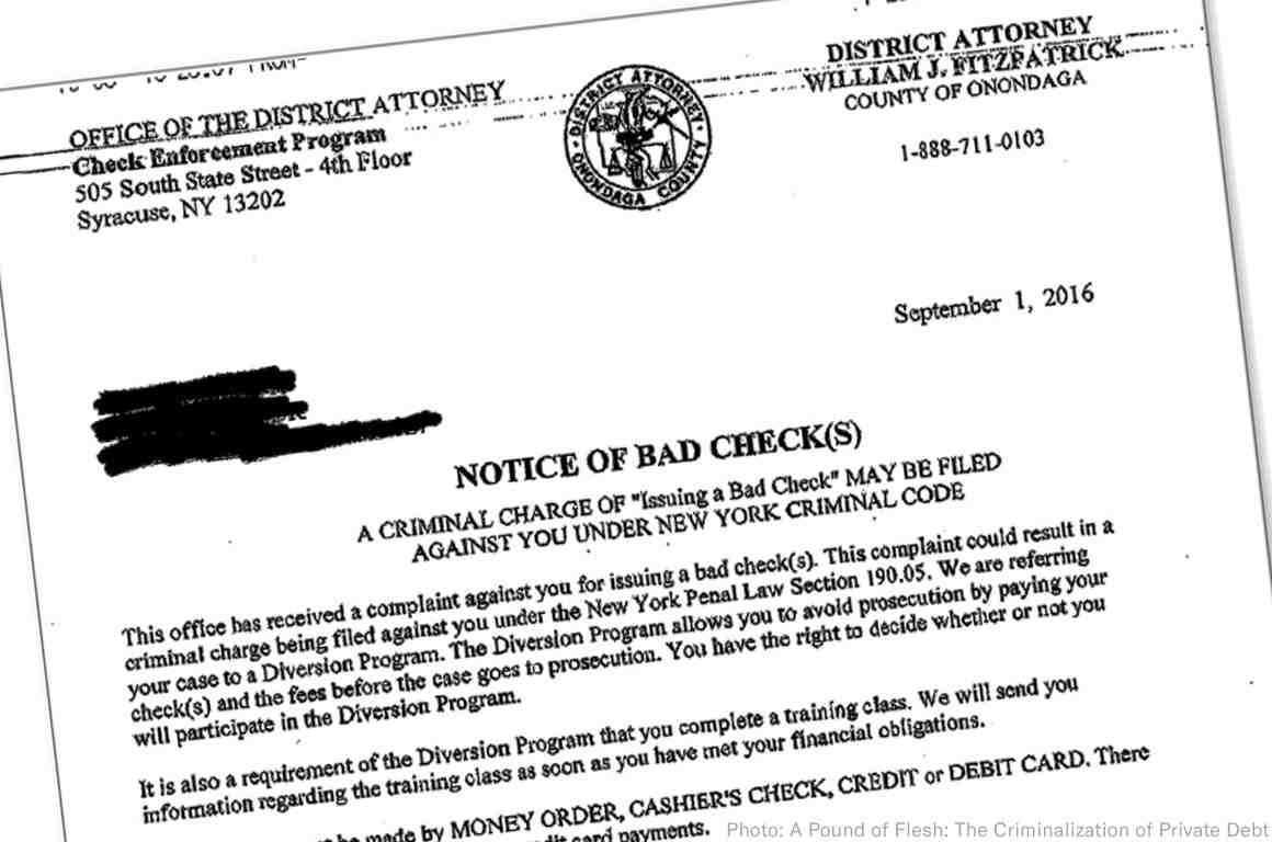 Letter from the district attorney