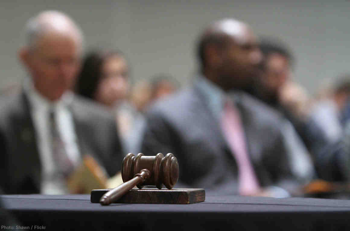 Gavel with out of focus background