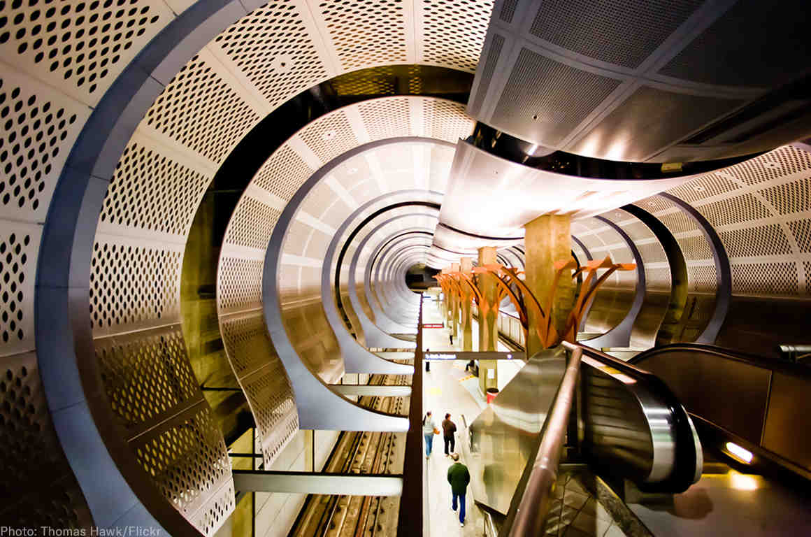 LA subway station