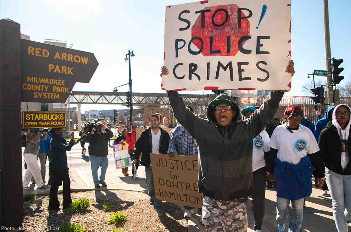 Milwaukee Stop Police Crimes Protest