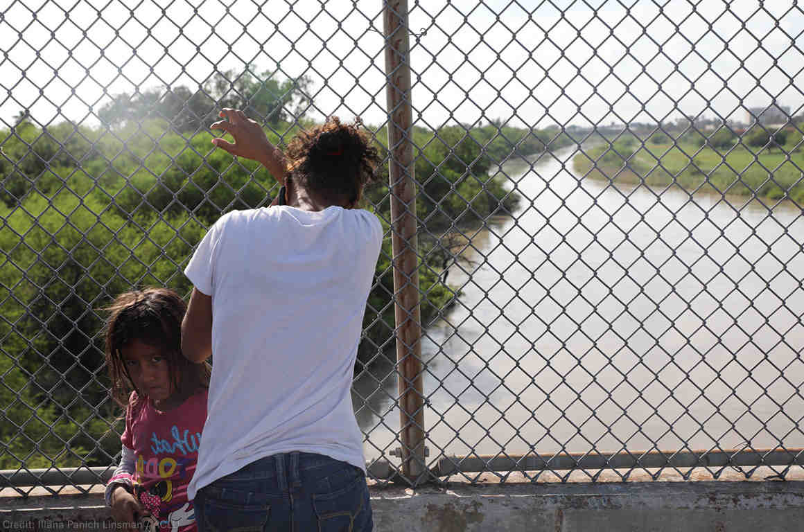 Mother and Daughter at the Border