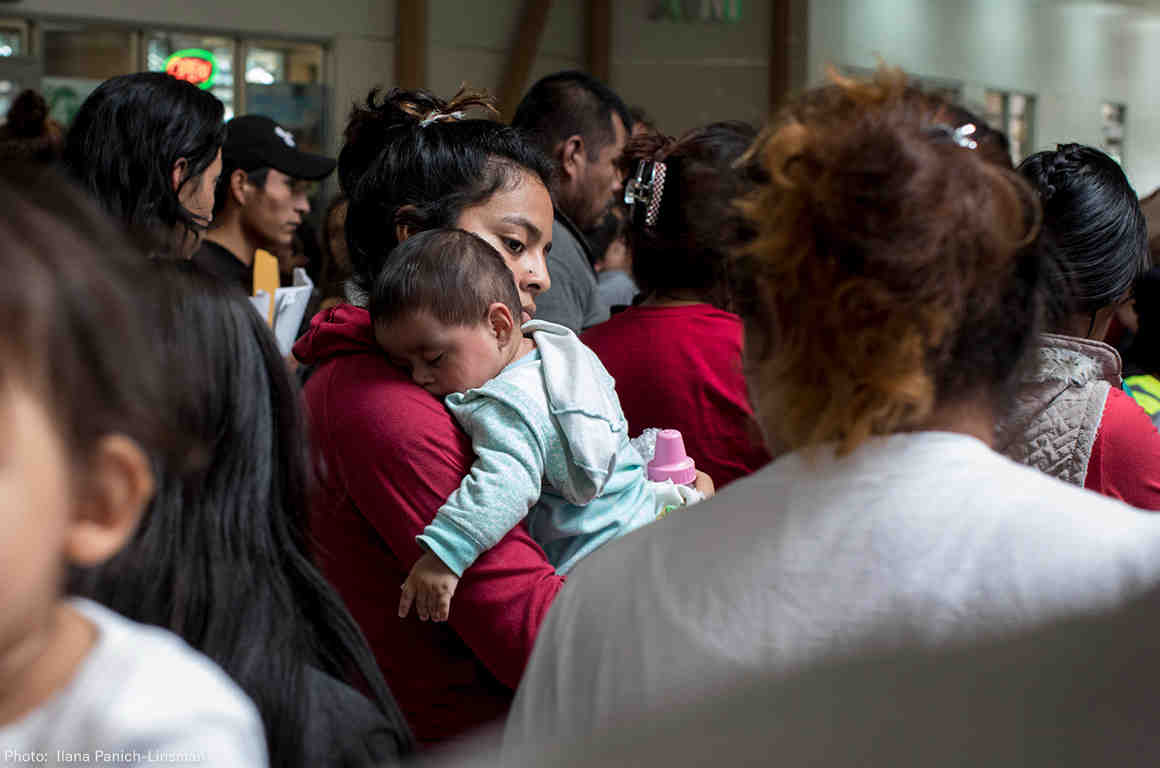 Mother with her Child - Family Separation