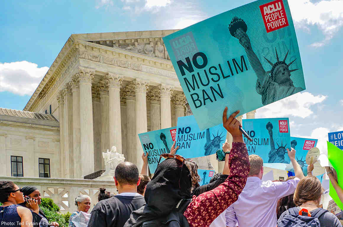 Muslim Ban Protest at the Supreme Court