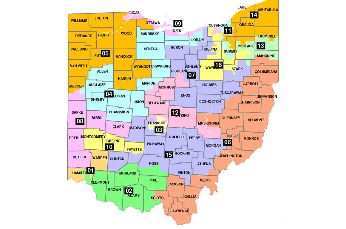 Union Ohio Map.Ohio S Congressional Map Is Broken Here Are 3 Ways To Fix It