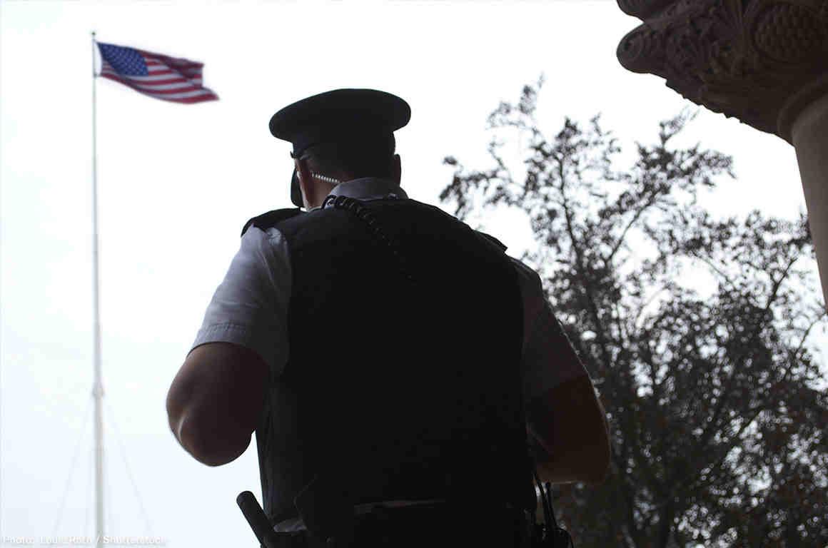 Police Officer Back