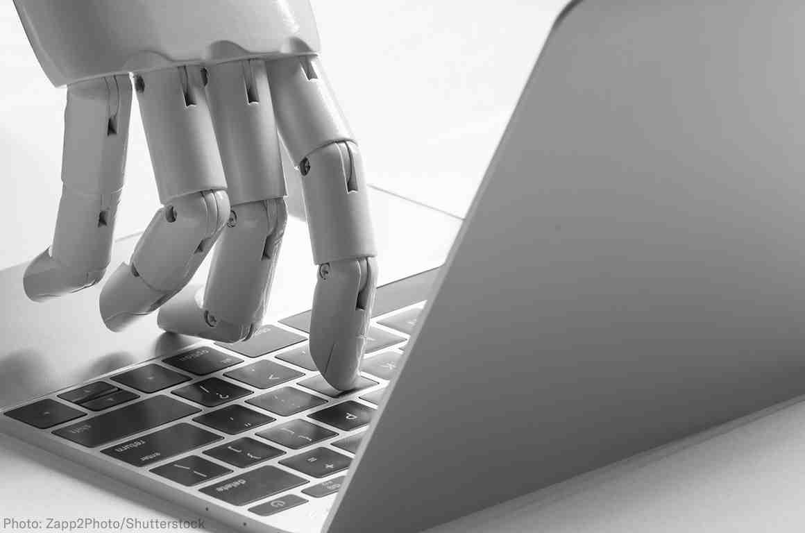 Robot using a computer