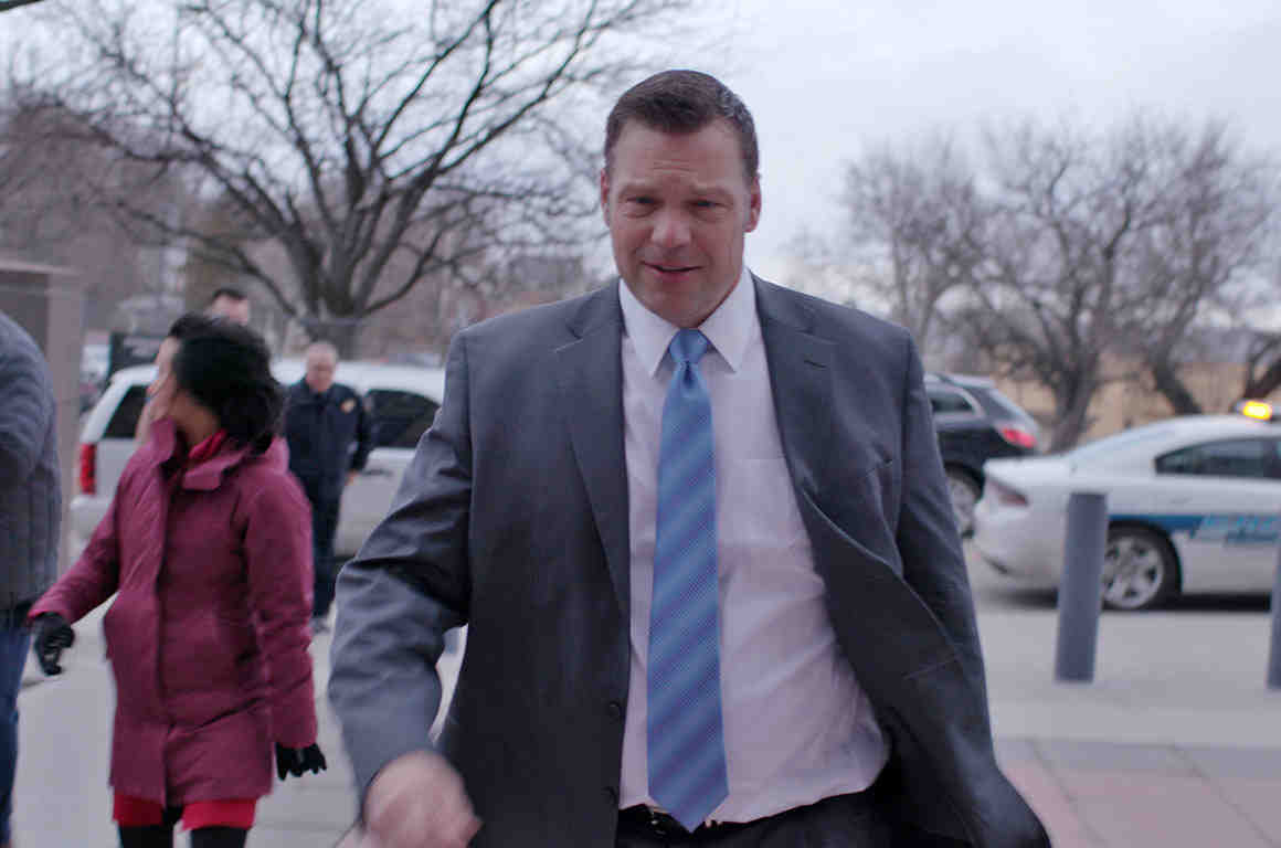 Kris Kobach walking