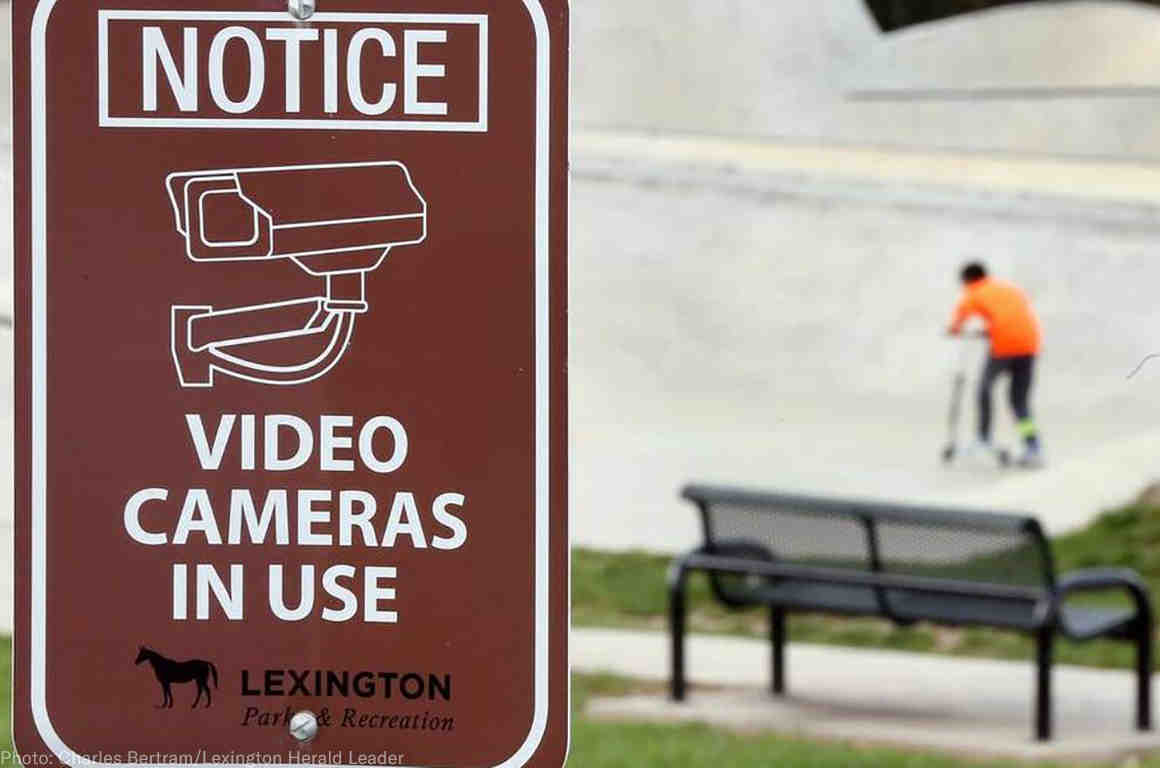Notice: Video Cameras in Use, Lexington Department of Parks & Recreation