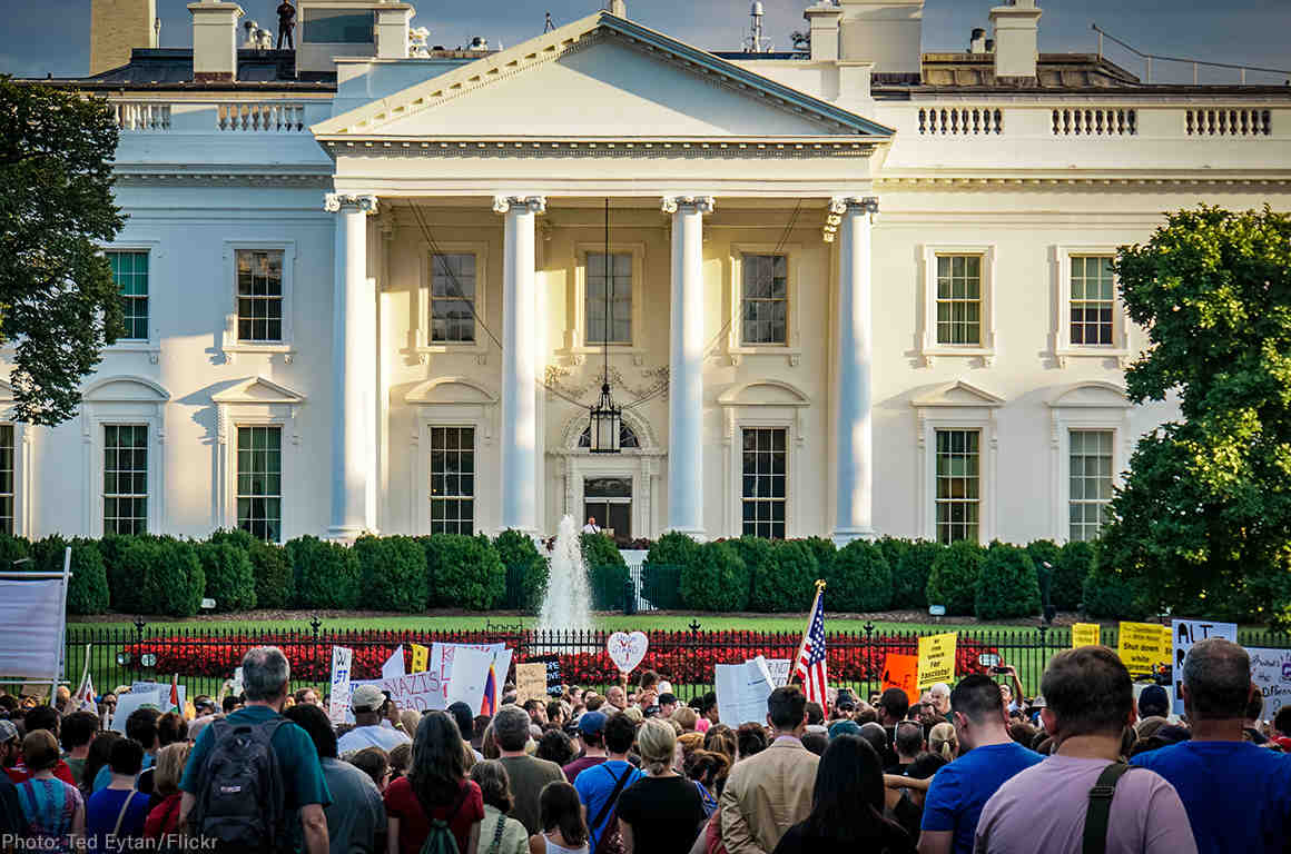 Protest outside of the White House