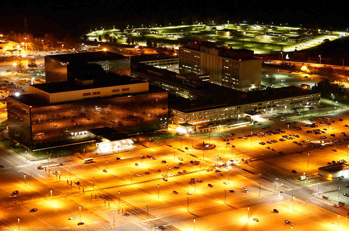 Aerial photograph of the National Security Agency