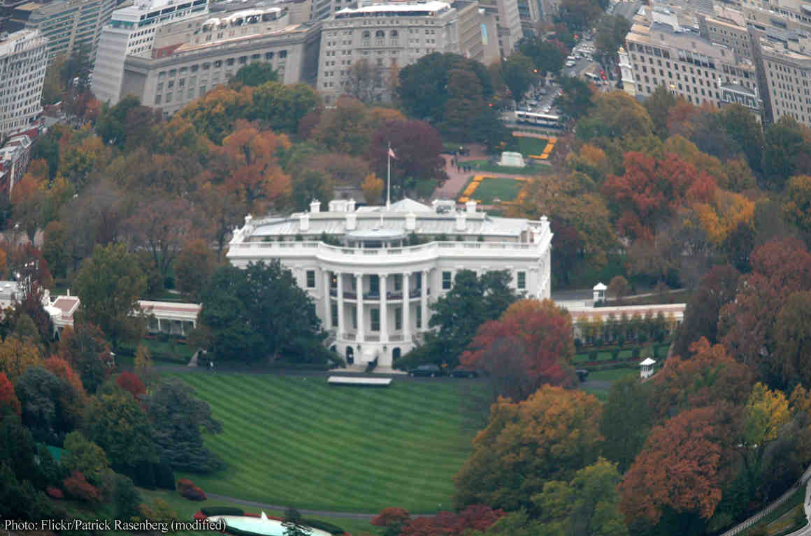 Aerial photo of White House