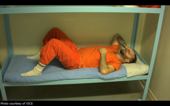 James Burns endures voluntary solitary confinement.