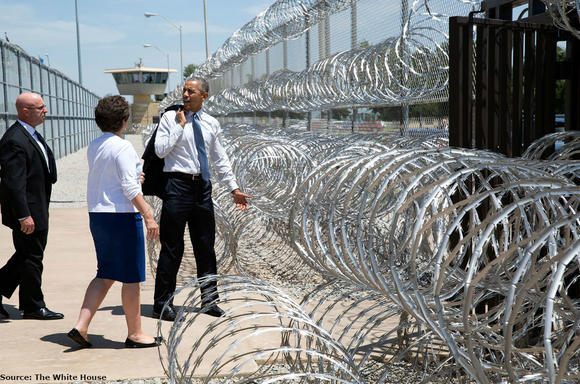 President Obama departs El Reno Federal Correctional Institution in Oklahoma.