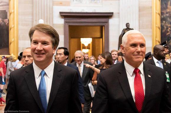 Brett Kavanaugh and Mike Pence