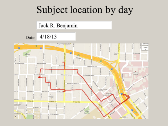 "Meet Jack Slide: ""Subject location by day"""