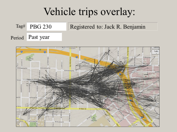 "Meet Jack Slide: ""Vehicle trips overlay"""