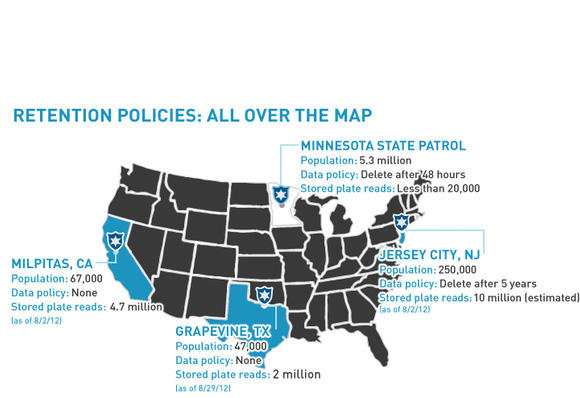License Plate State Map.You Are Being Tracked American Civil Liberties Union