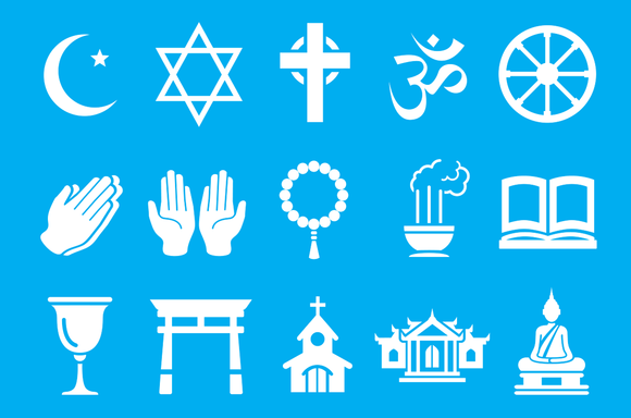 Multi-faith symbols