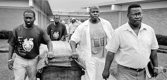 Men carrying a casket