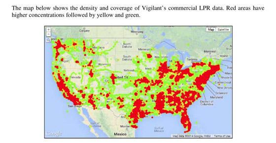 Vigalent's LPR Coverage Map