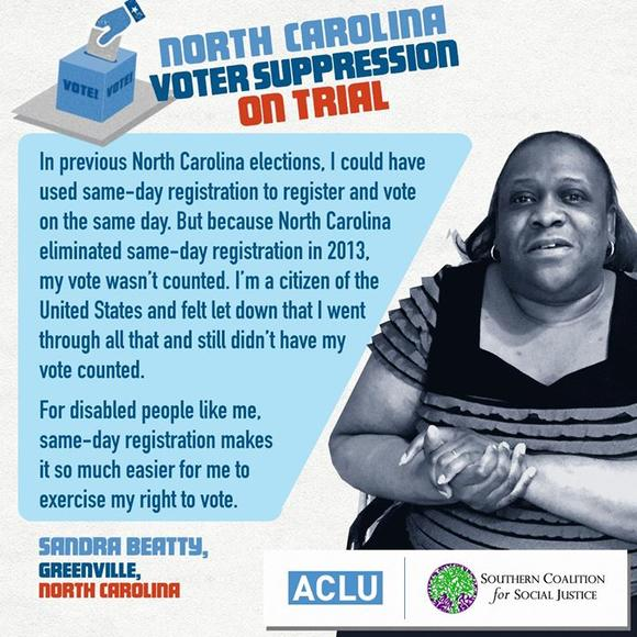 North Carolina Voter Suppression on Trial