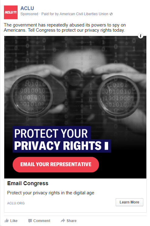 ACLU Protect Your Privacy Rights Ad