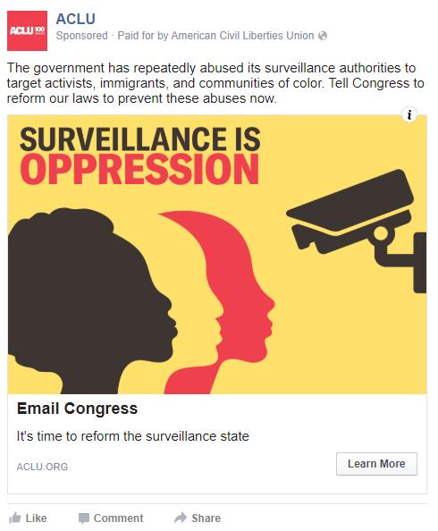 ACLU Surveillance is Oppression Ad