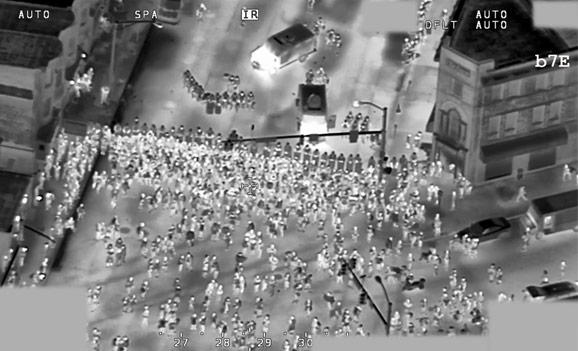 Baltimore Drone Footage Protest targeting