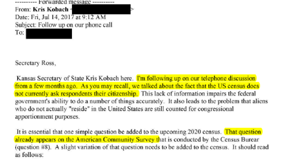 Email from Kris Kobach