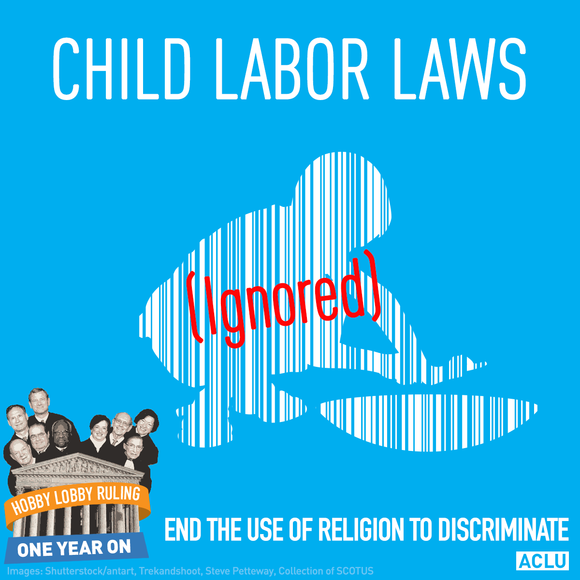 Child Labor Laws Ignored